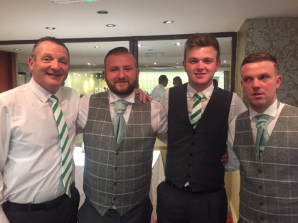 Dad, Harry, Morgan and Declan